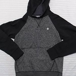 Element gray & black pull over hoodie
